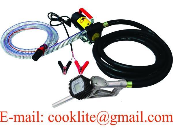 12V/24V DC Electric Diesel Oil Transfer Pump 45L/Min Bio-diesel Fuel Flow Meter