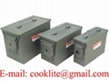 Caja de municiones militar Caja municion metal estanco militar
