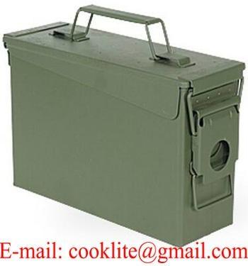 Amerikansk ammunitionslåda M19A1 militär förvaringslåda 30 Cal.
