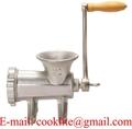 Molino estanado de tornillos para carne Maquina para picar carne manual #22