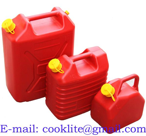 Plastic Fuel Petrol Diesel Jerry Can Canister With Flexible Spout