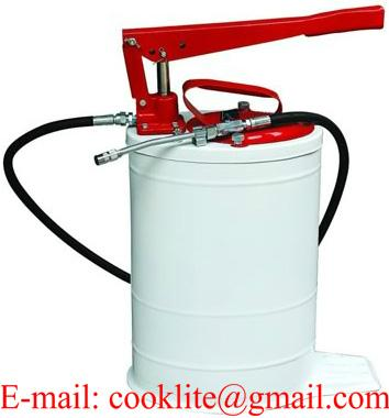 Manual grease pump high volume oval lubrication bucket - 20L