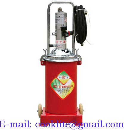 Air Operated Grease Dispenser Pneumatic Lubricator Pump - 12L