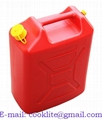 20L Plastic jerry can diesel fuel petrol water jerrycan + flexible spout