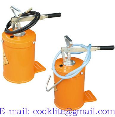 Hand operated high volume bucket lubrication pump -10L