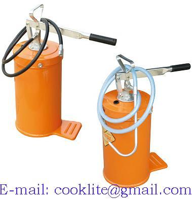 Hand oil grease filler lubricator pump
