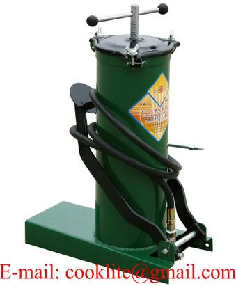 High pressure equipment portable foot grease pump lubrication bucket - 6L