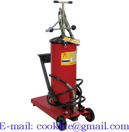 Wheeled manual grease lubricator pedal pump - 12L