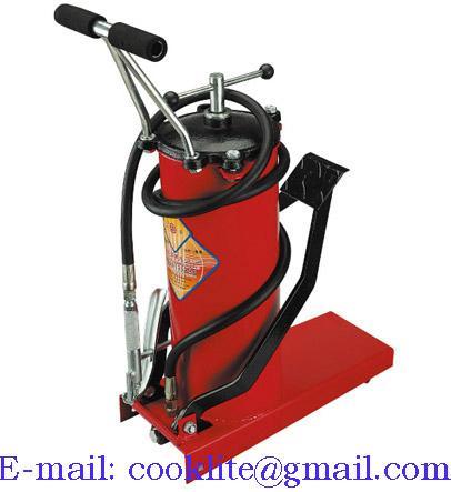 Foot operated bucket gear lube dispenser pump - 10L