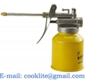 Steel Pistol Oiler Lever Hydraulic Pump Oil Can Lubricating Lathe 250cc