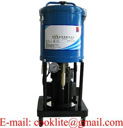 Передвижной электрический солидолонагнетатель 25л