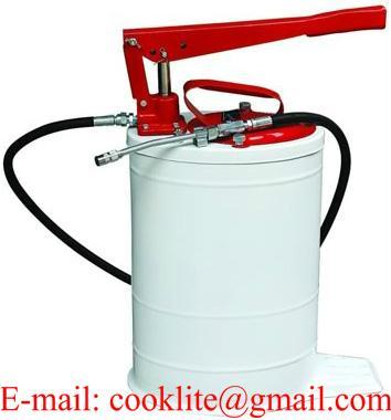 Ручной солидолонагнетатель нагнетатель с овальной емкостью для масла
