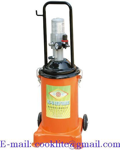 Fettpresse Pneumatisch Druckluft Abschmierpresse fahrbar 12L