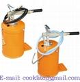 Bomba/engraxadeira manual para graxa 10kg com reservatório
