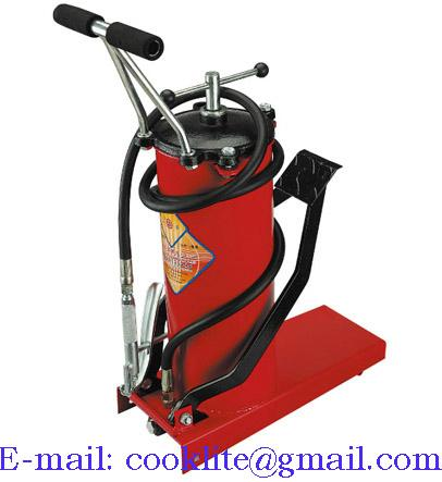 Foot operated grease bucket pump 10L
