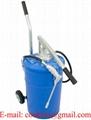 20L wheeled manual gear oil dispenser grease bucket pump