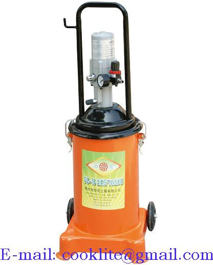 High Volume Oil Grease Manual Bucket Pump Pneumatic Operated Greaser 12Kg