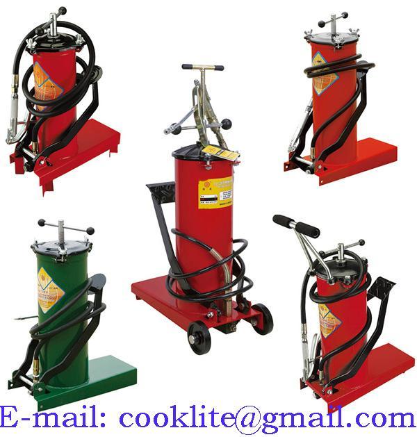 Pompa barile per grasso a pedale / Ingrassatore manuale con pompa pedale