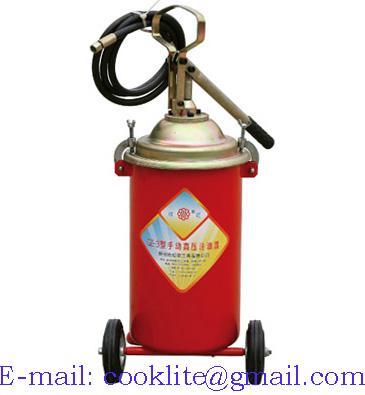 Ingrassatore pompa per grasso a barile 20 kg con testina e tubo flessibile