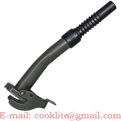 Metal Jerry Can Spout with Rubber Flexible Nozzle