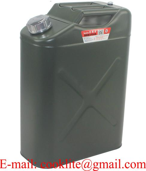 20 litre US Style Steel Jerry Can with Screw Top & Built-in Spout