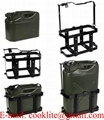 Jerry Can Metal Holder 10L/20L Carrier Fuel Petrol Diesel Anti Siphon Theft