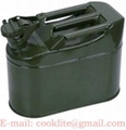 Military-spec Jerry Can Metal Fuel Tank 5 Litre