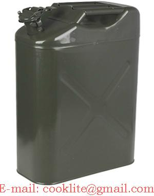 Army Authentic Military Fuel Steel Tank Jerry Can 20 Litre