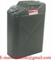 Metal Journey Can Utility Jug 5 Gallon With Fill Nozzle & Cap