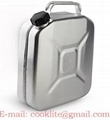 Jerry Can Portable Gasoline Fuel Can Stainless Steel Gas Tank 5 Litre