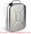 5 Gallon Stainless Steel Jerry Can for Boat/4WD/Car/Camping Petrol/Fuel Built-in Spout