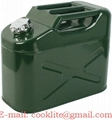 5 Gallon Jerry Can Gas Fuel Steel Tank Military Style 20L Can with Spout