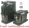 NATO Military Jerry Can with Secure Holder and Rigid Pouring Spout