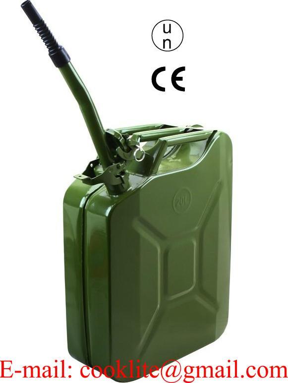 Metall Benzinkanister 20L mit UN-Zulassung + Ausgießer flexibel