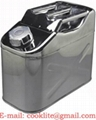 Stahlblech Benzinkanister Dieselkanister Reservekanister Kanister 10L mit Ausgießer