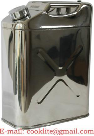Edelstahl Lebensmitteldosen Lebensmittelkanister Trinkwasser Kanister 20L mit Ausgießer