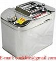 Edelstahl Ölkanister Lebensmittelkanister Trinkwasser Kanister 20L mit Ausgießer