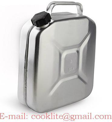 Tanica Carburante Alluminio Latta Della Benzina 10Lt