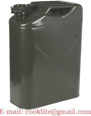 Benzine/diesel Jerrycan metaal 20 liter groen UN-keur