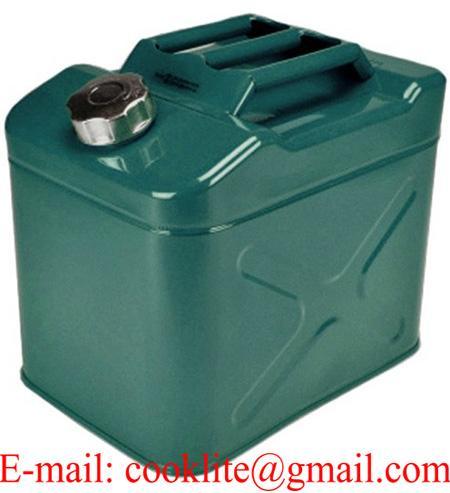 Metalen stalen yerrycan jerrycan 20 liter leger voor brandstoffen