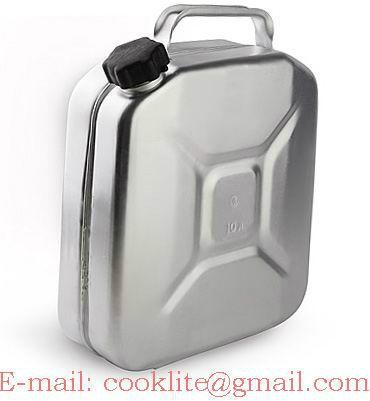 Aluminium brandstof Jerrycan 10L met schroefdop