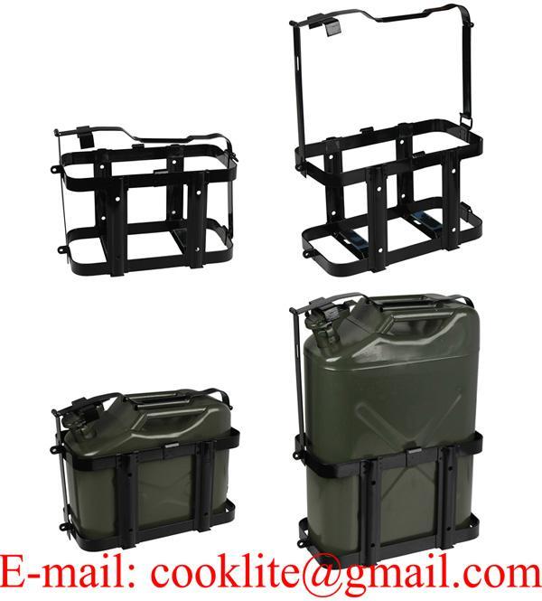Stalen jerrycanhouder voor 10/20 liter metalen jerrycan/brandstoftank