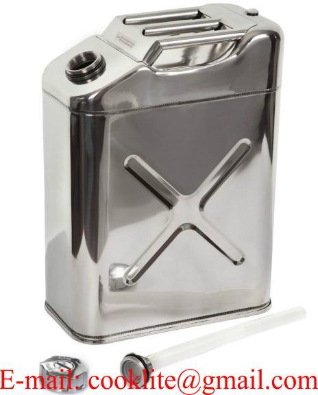 20 liter roestvrij stalen (RVS) brandstof jerrycan