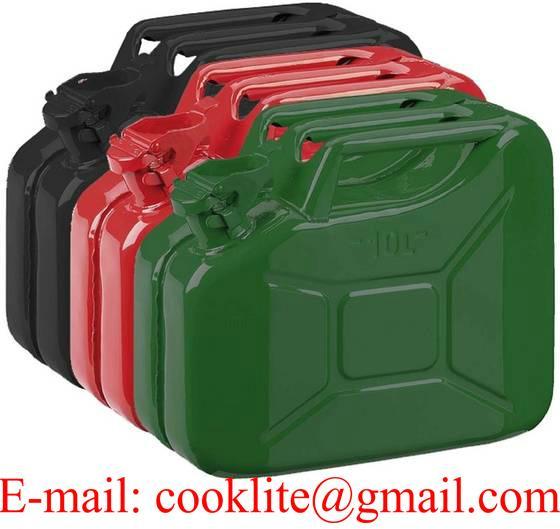 Bidón metálico gasolina militar de 10 ltr.
