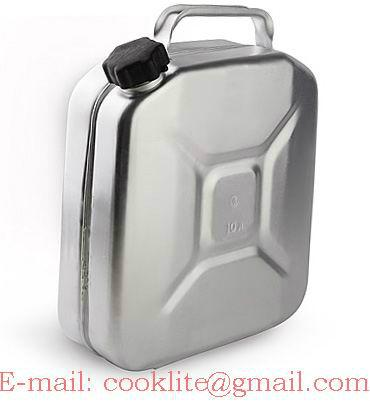 Galão bidão recipiente para combustível gasolina 10l alumínio Jeep