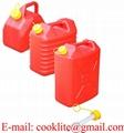 Canistra plastic pentru ulei si benzina cu palnie flexibila