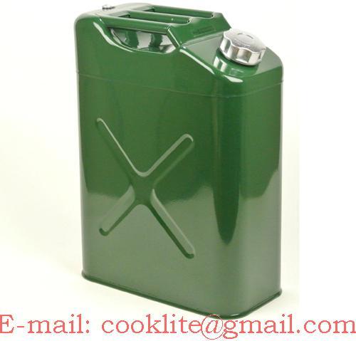 Canistra metalica benzina sau motorina 20 litri cu palnie flexibila
