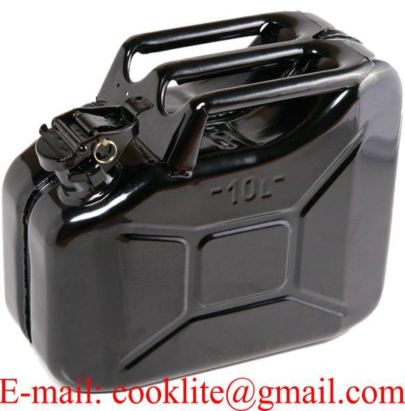 Jerrican métallique homologué pour gasoil et essence 10 litres
