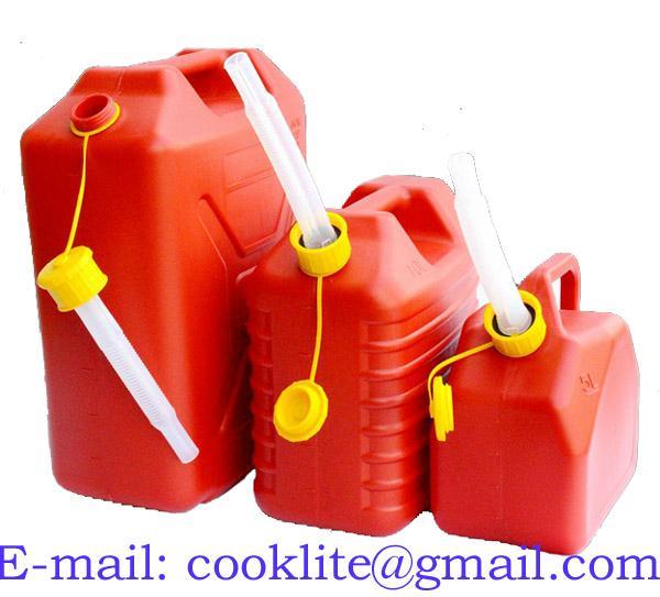 Jerrican plastique pour essence et gasoil avec bec verseur