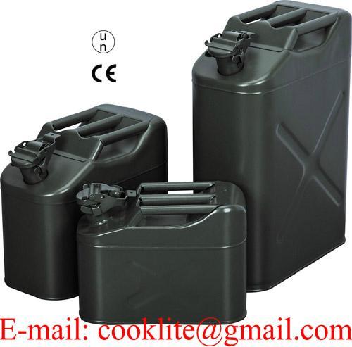 Jerrican métal pour carburant essence ou diesel